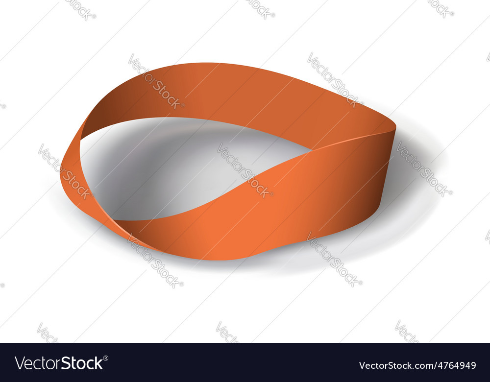 Mobius band with180 degrees rotation vector | Price: 1 Credit (USD $1)