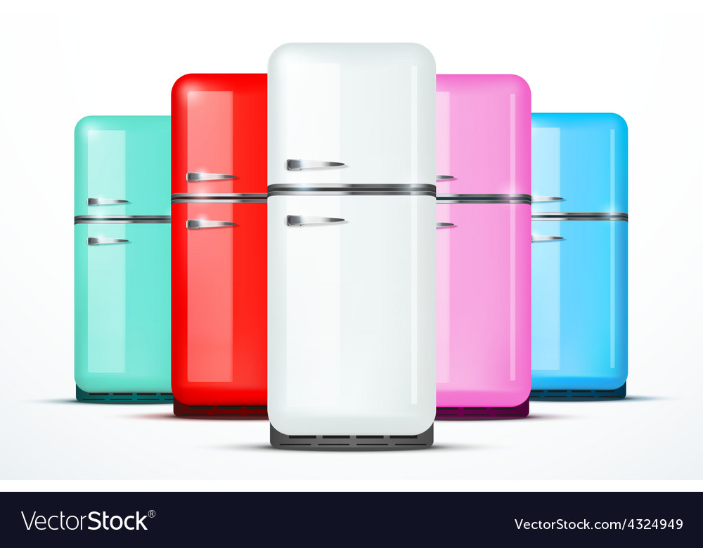 Set of fridge refrigerator isolated on vector | Price: 1 Credit (USD $1)