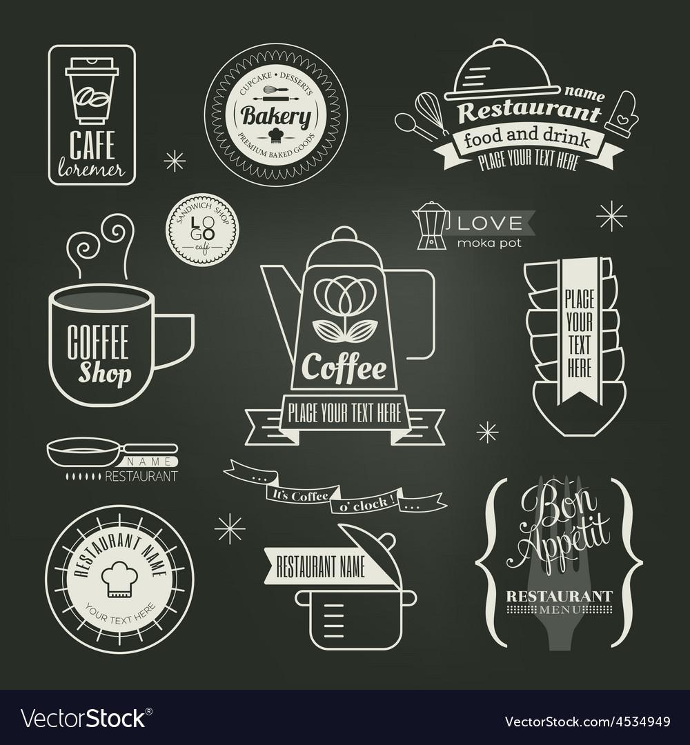 Vintage retro restaurant cafe logo design vector   Price: 1 Credit (USD $1)