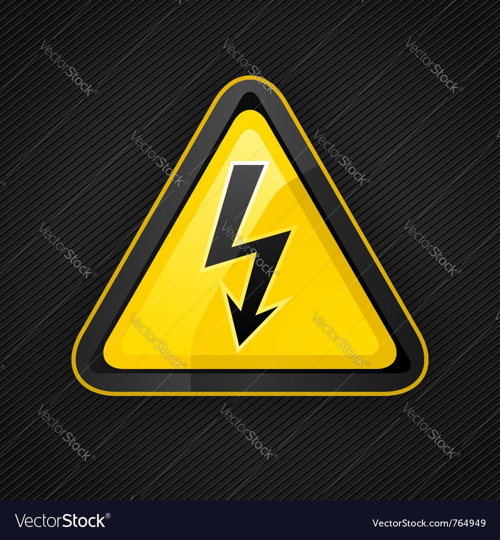 Voltage warning sign vector | Price: 1 Credit (USD $1)