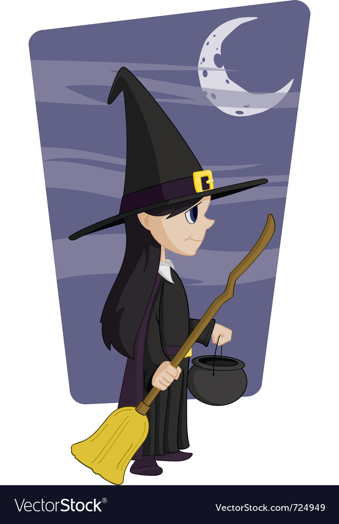 Young halloween witch vector | Price: 3 Credit (USD $3)