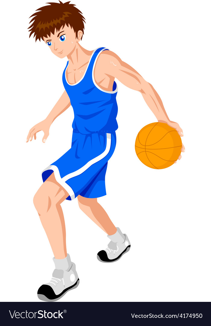 Basket ball player vector | Price: 1 Credit (USD $1)