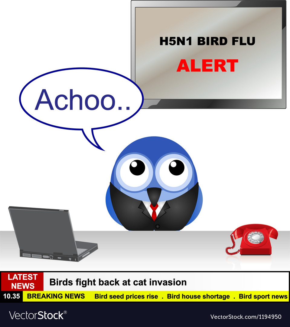 Bird flu news vector | Price: 1 Credit (USD $1)