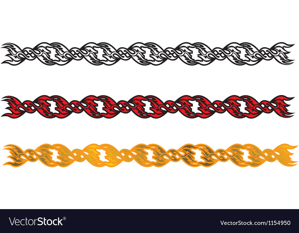 Chain dividing line vector | Price: 1 Credit (USD $1)