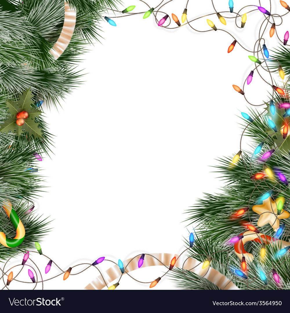 Christmas lights isolated on white eps 10 vector   Price: 3 Credit (USD $3)