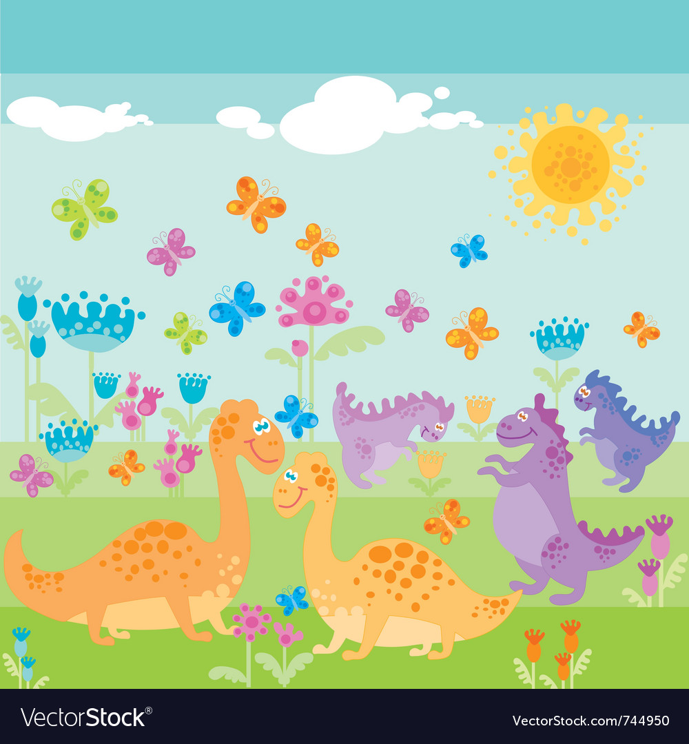 Dinosaur park vector | Price: 1 Credit (USD $1)