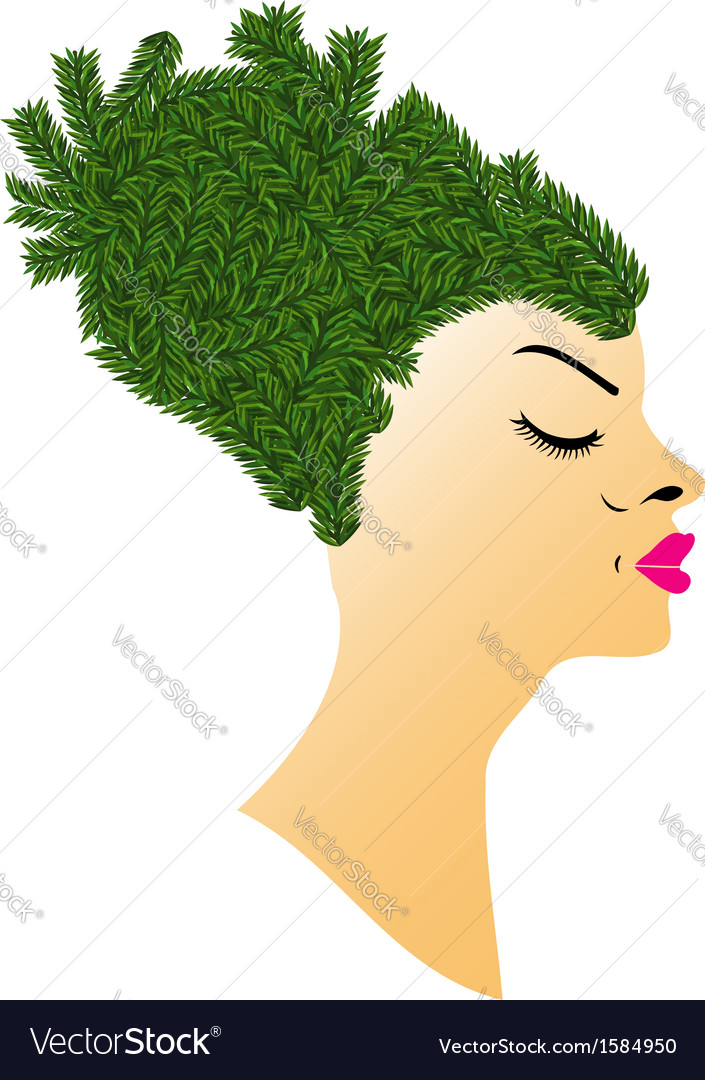 Hairstyle with grass vector | Price: 1 Credit (USD $1)