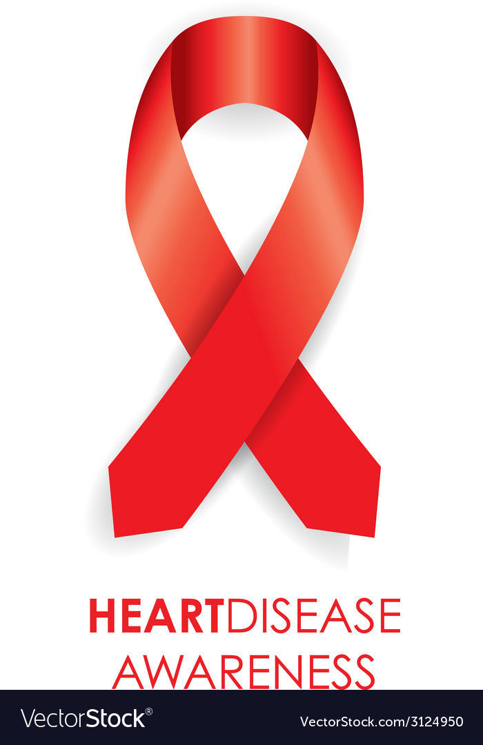 Heart disease ribbon vector | Price: 1 Credit (USD $1)