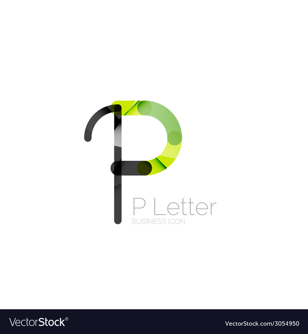 Minimal p font or letter logo design vector   Price: 1 Credit (USD $1)