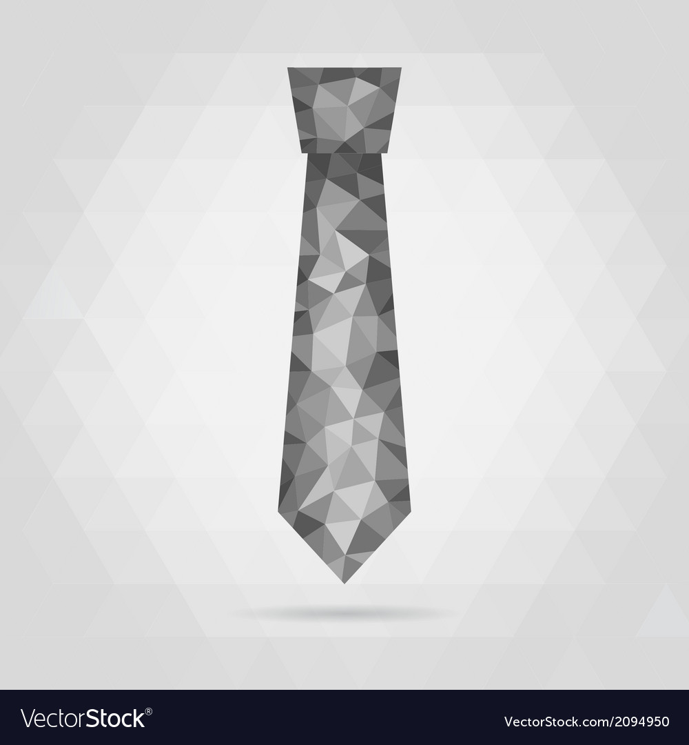 Necktie geometric vector | Price: 1 Credit (USD $1)