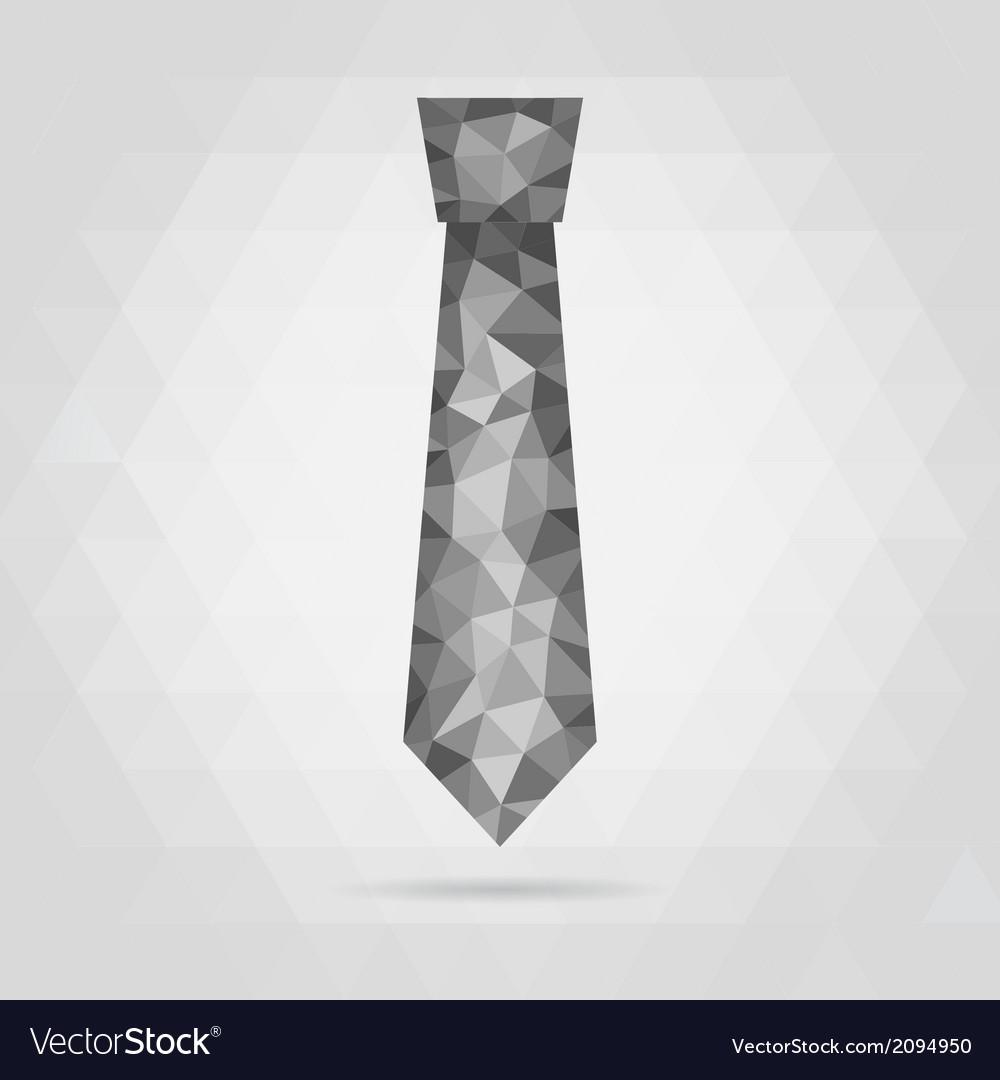Necktie geometric vector