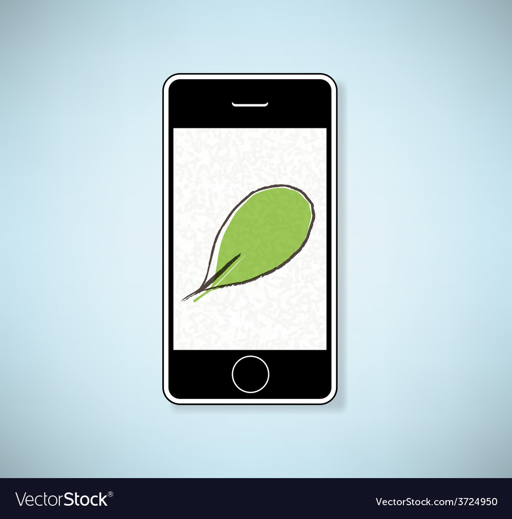 Phone show leaves background vector | Price: 1 Credit (USD $1)