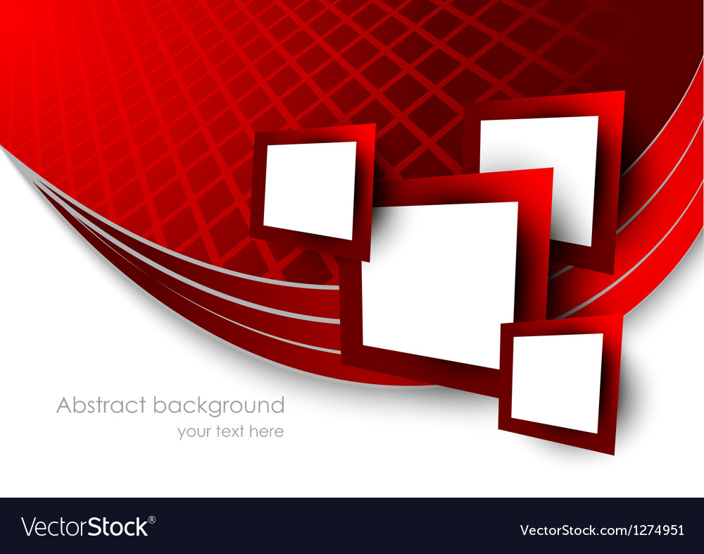 Abstract red background wtih squares vector | Price: 1 Credit (USD $1)