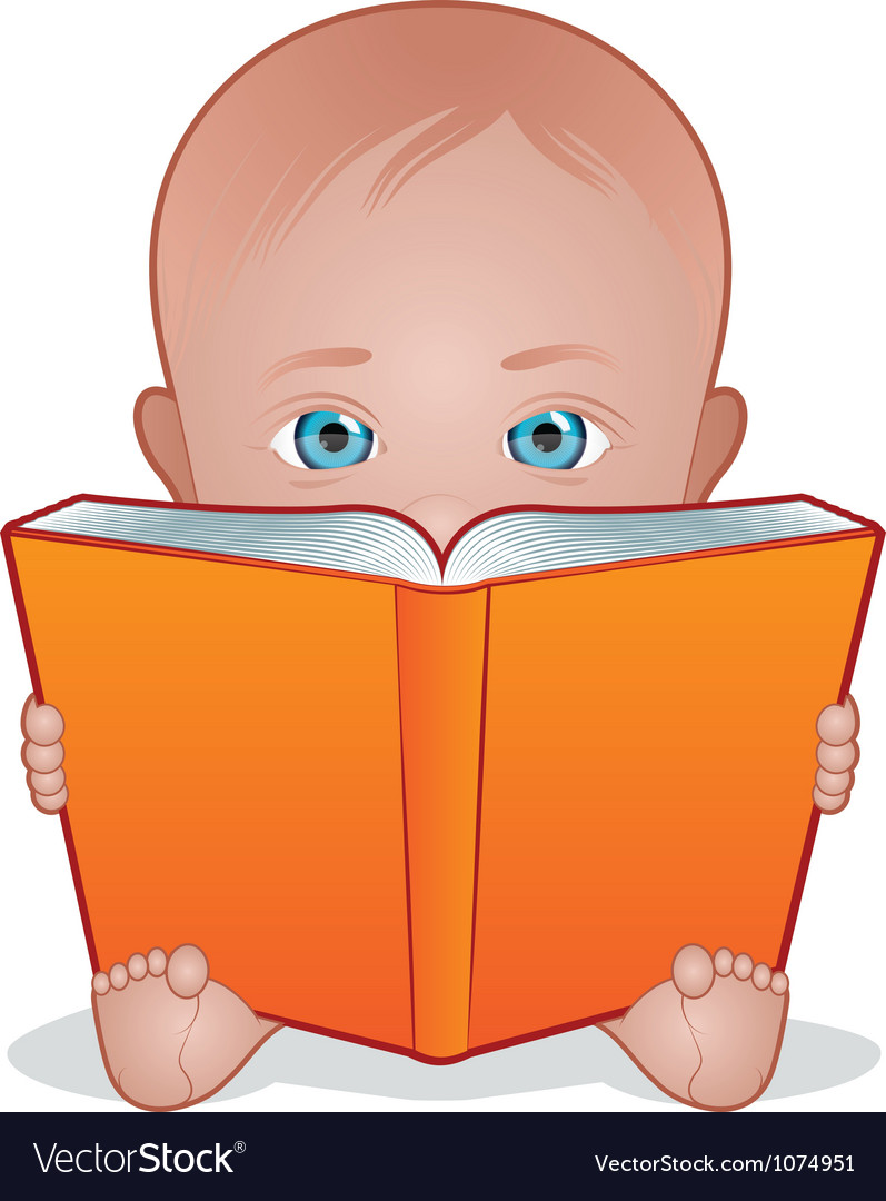 Baby reading vector | Price: 1 Credit (USD $1)