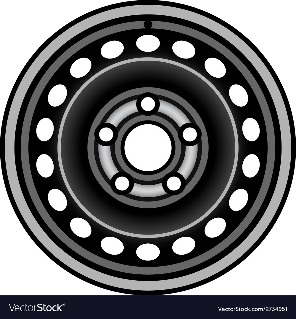 Black car iron wheel rim vector | Price: 1 Credit (USD $1)