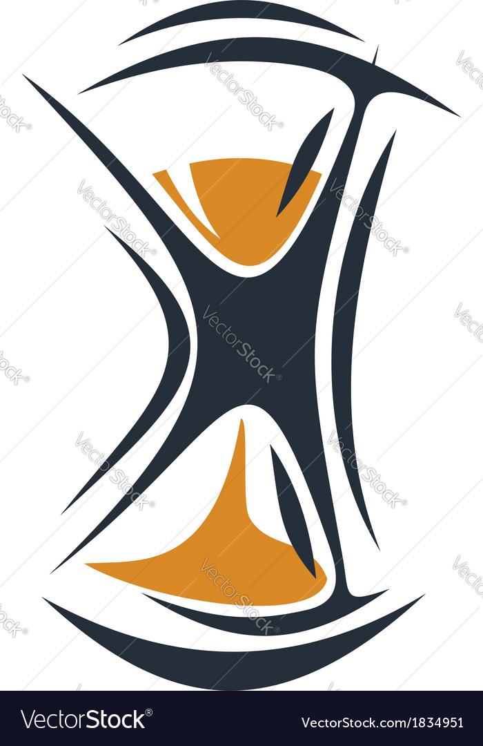 Cartoon hourglass vector | Price: 1 Credit (USD $1)
