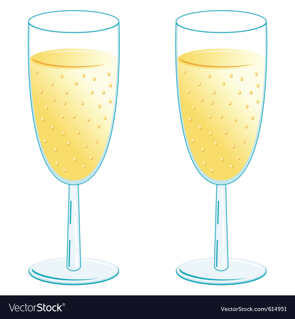 Champagne glasses vector | Price: 1 Credit (USD $1)