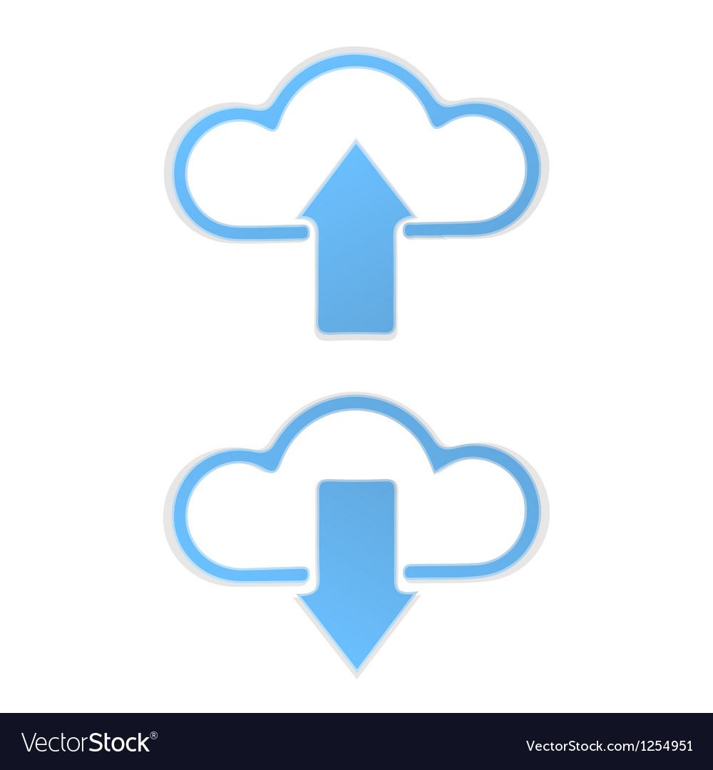 Cloud data upload vector | Price: 1 Credit (USD $1)