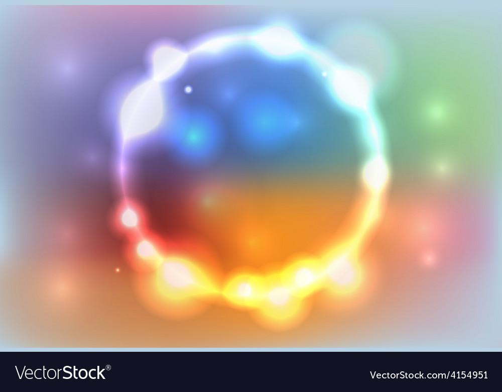 Colorful abstract glowing lights background vector | Price: 1 Credit (USD $1)
