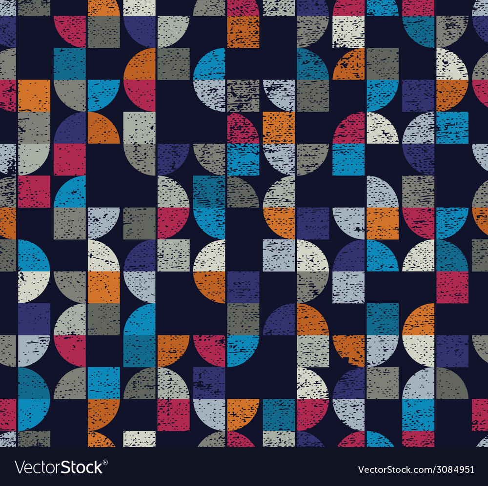 Geometric seamless dirty textured mosaic tiles vector | Price: 1 Credit (USD $1)