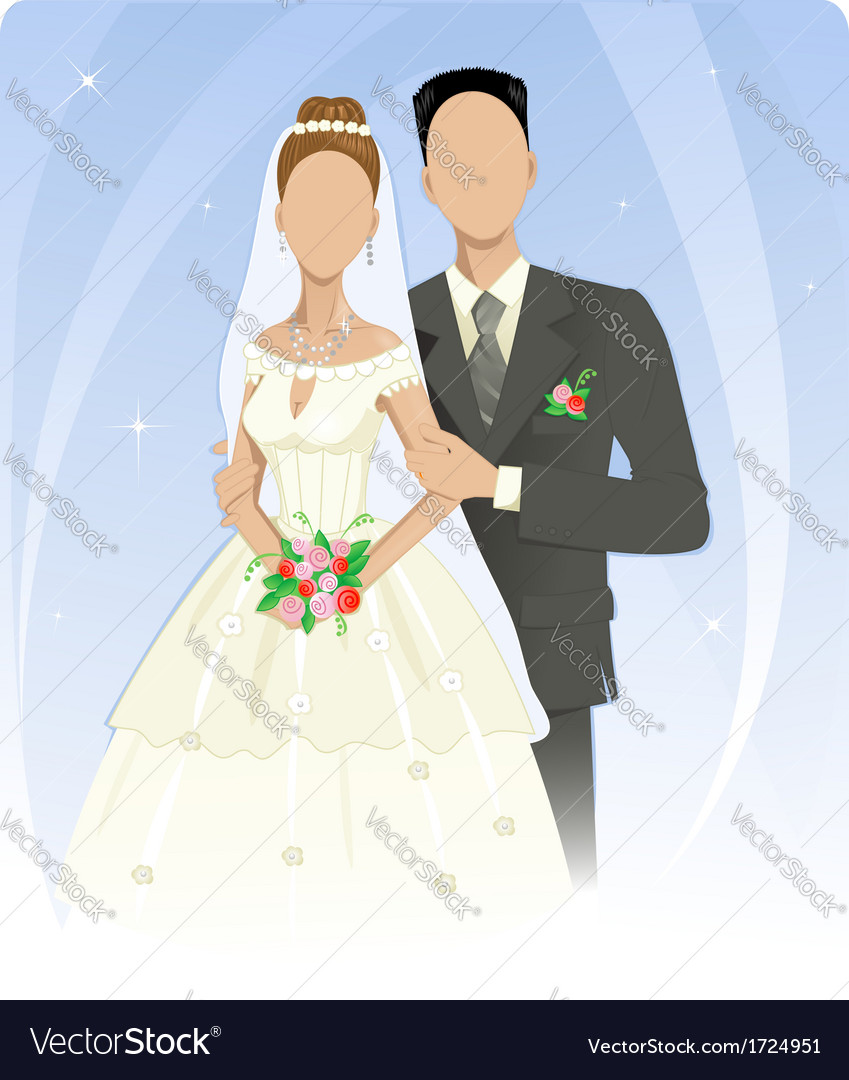 Template of wedding couple vector | Price: 1 Credit (USD $1)