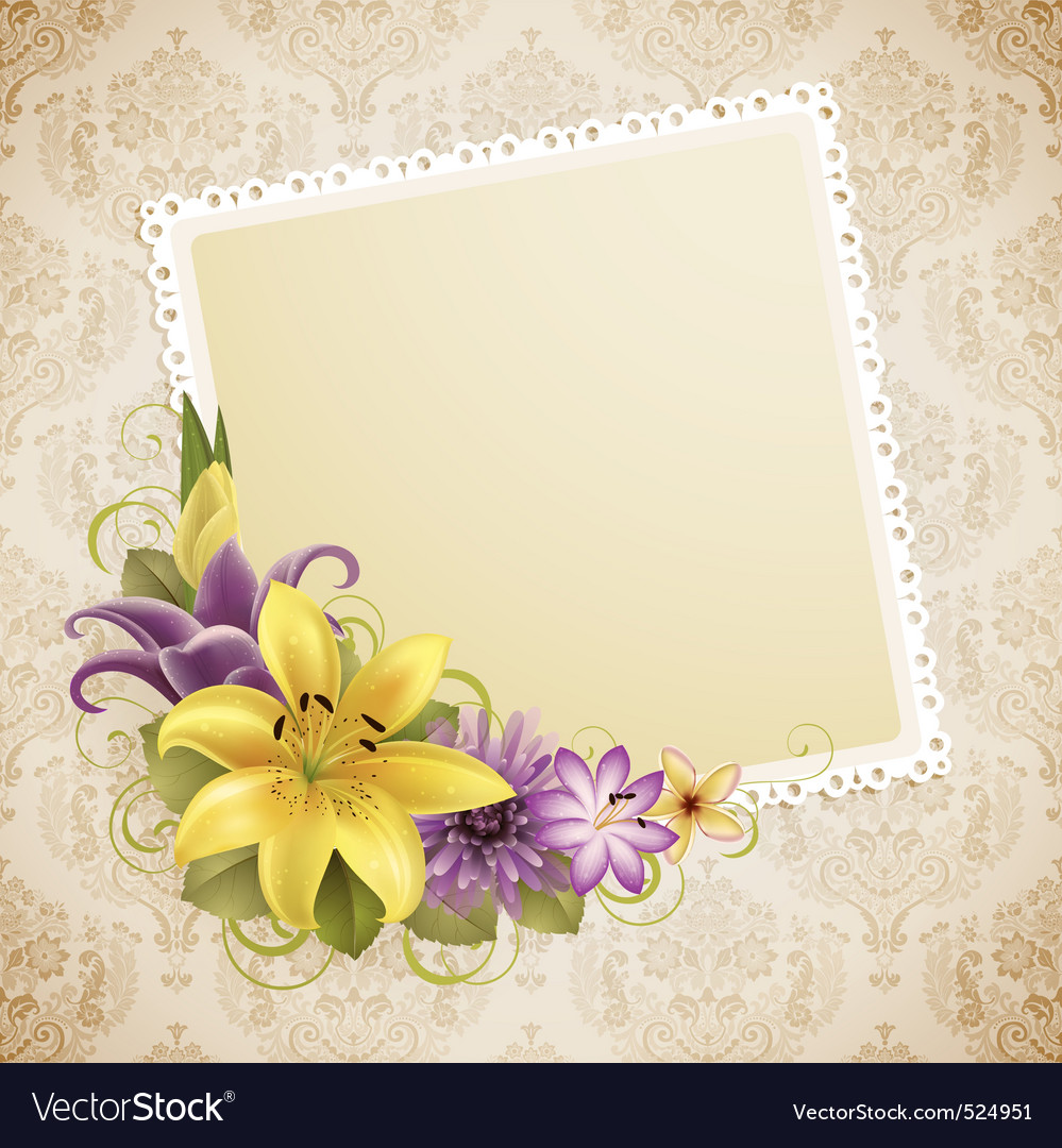 Vintage greeting card vector | Price: 3 Credit (USD $3)