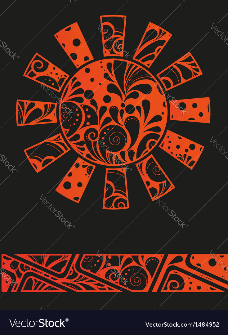 Abstract graffiti sun design template or backgroun vector | Price: 1 Credit (USD $1)