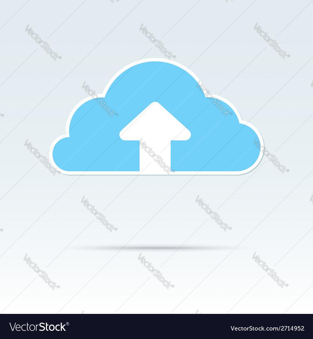 Cloud upload icon vector | Price: 1 Credit (USD $1)