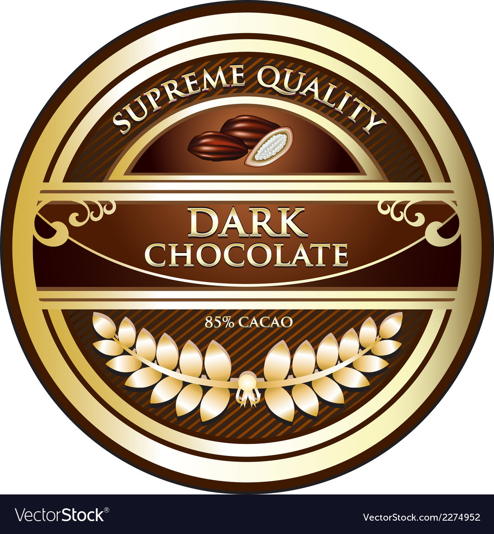Dark chocolate label vector | Price: 1 Credit (USD $1)