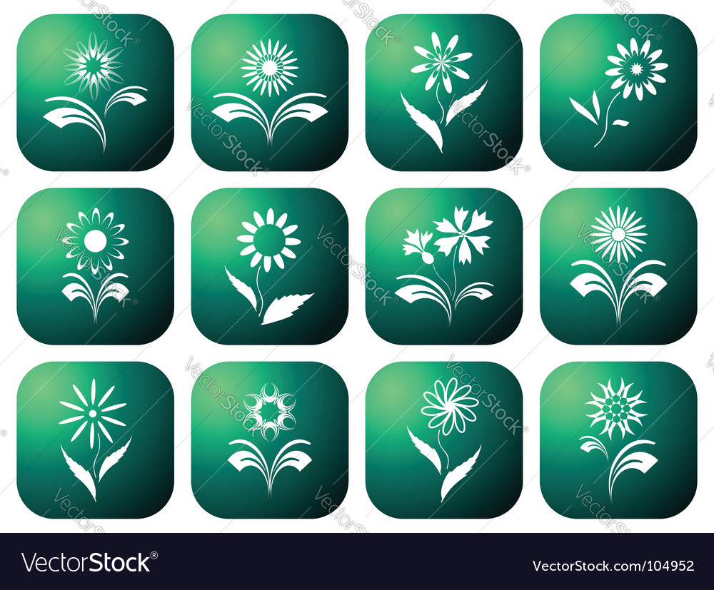 Eco green icons vector | Price: 1 Credit (USD $1)