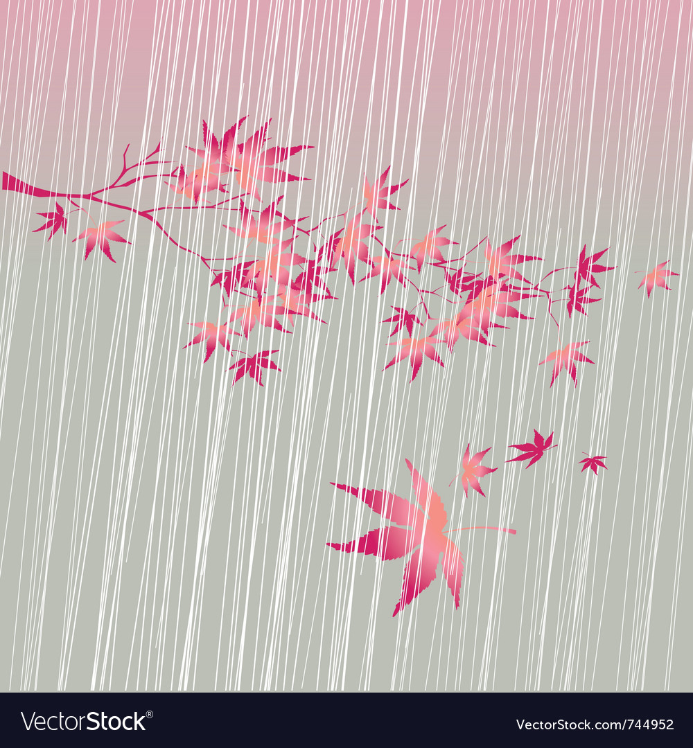 Fall rain vector | Price: 1 Credit (USD $1)