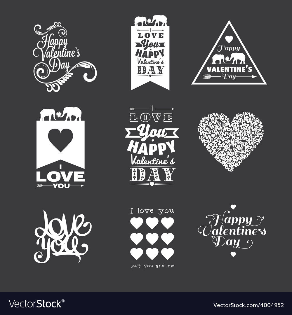 Happy valentine day lettering vector | Price: 1 Credit (USD $1)