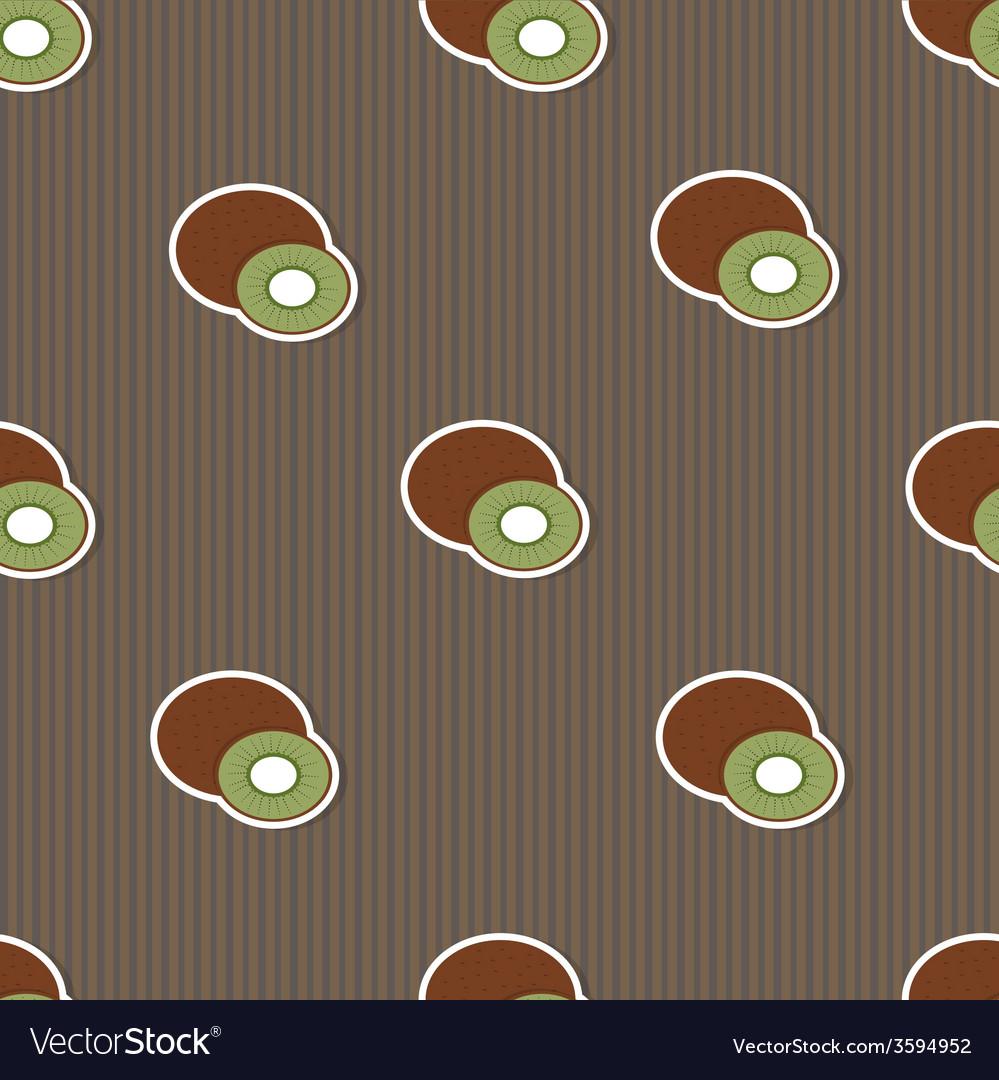 Kiwi pattern seamless texture with ripe kiwi vector | Price: 1 Credit (USD $1)