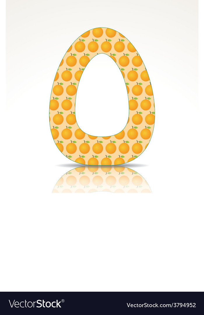 The letter o of the alphabet made of orange vector | Price: 1 Credit (USD $1)