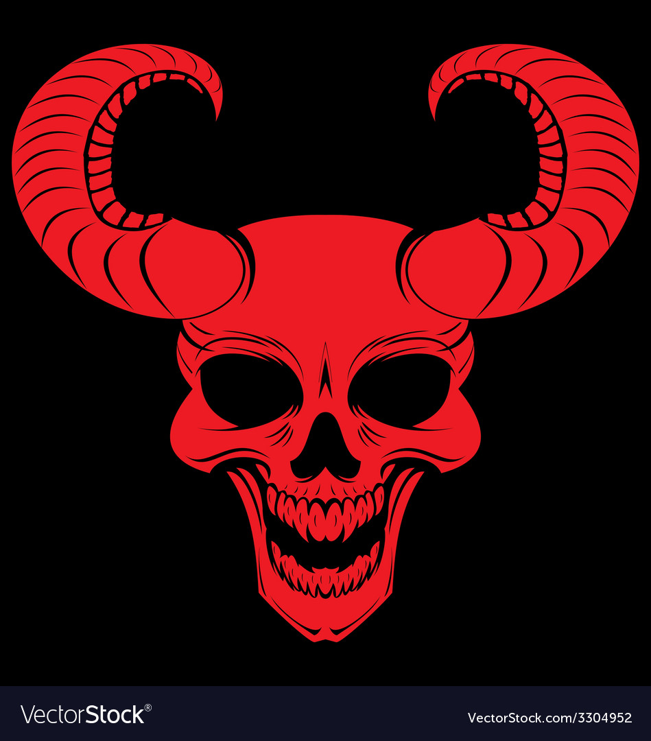 Red demons head vector | Price: 1 Credit (USD $1)