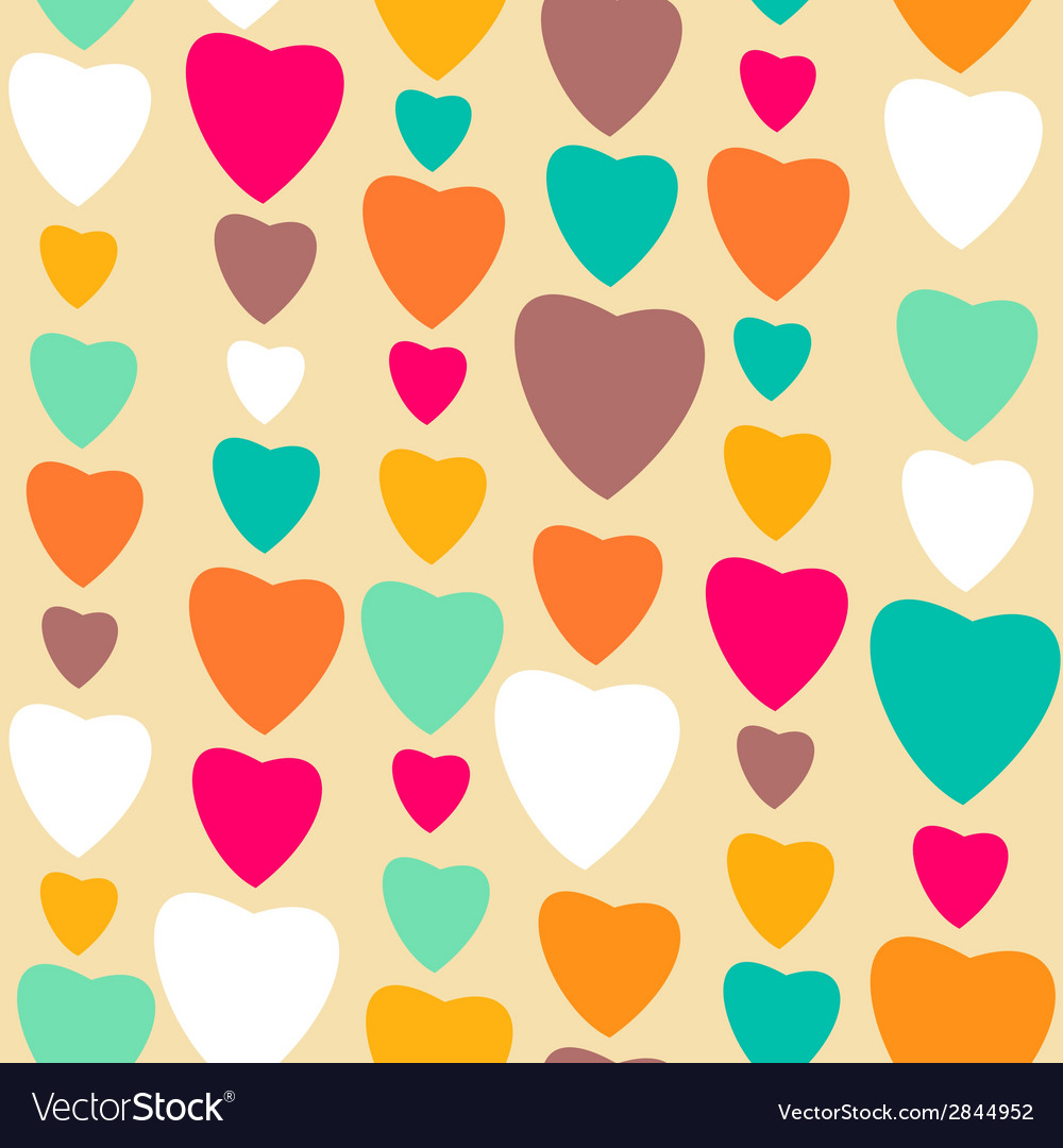 Retro style abstract seamless pattern valentines vector | Price: 1 Credit (USD $1)