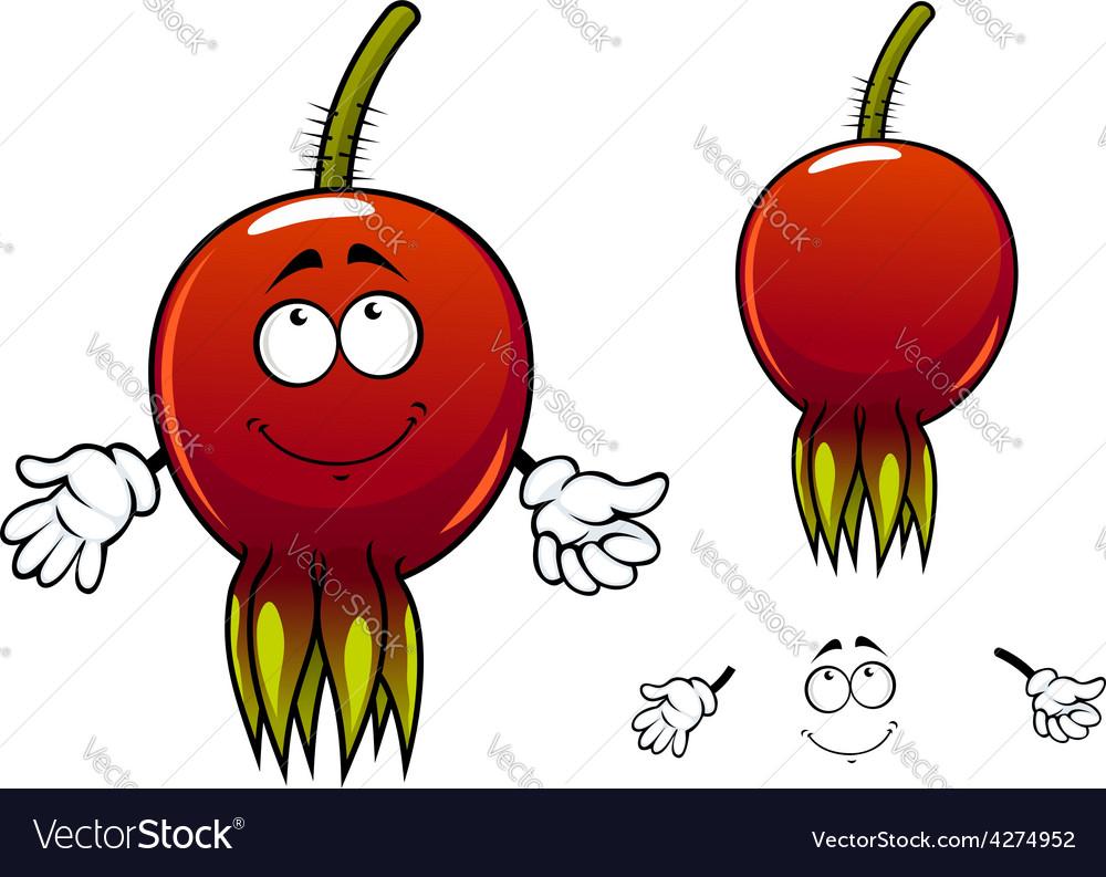 Smiling ripe briar fruit cartoon character vector | Price: 1 Credit (USD $1)