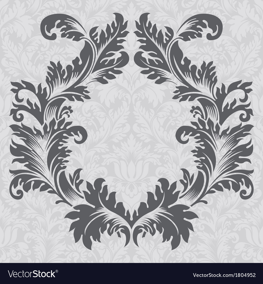 Vintage baroque border frame card cover vector | Price: 1 Credit (USD $1)