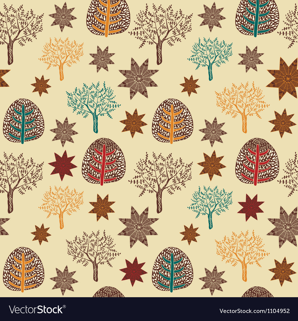 Vintage hand drawn pattern vector | Price: 1 Credit (USD $1)