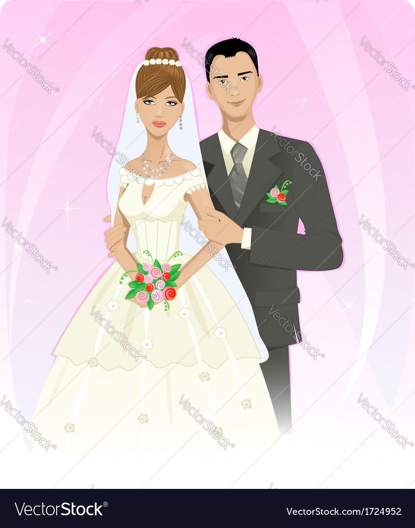 Wedding couple vector | Price: 1 Credit (USD $1)