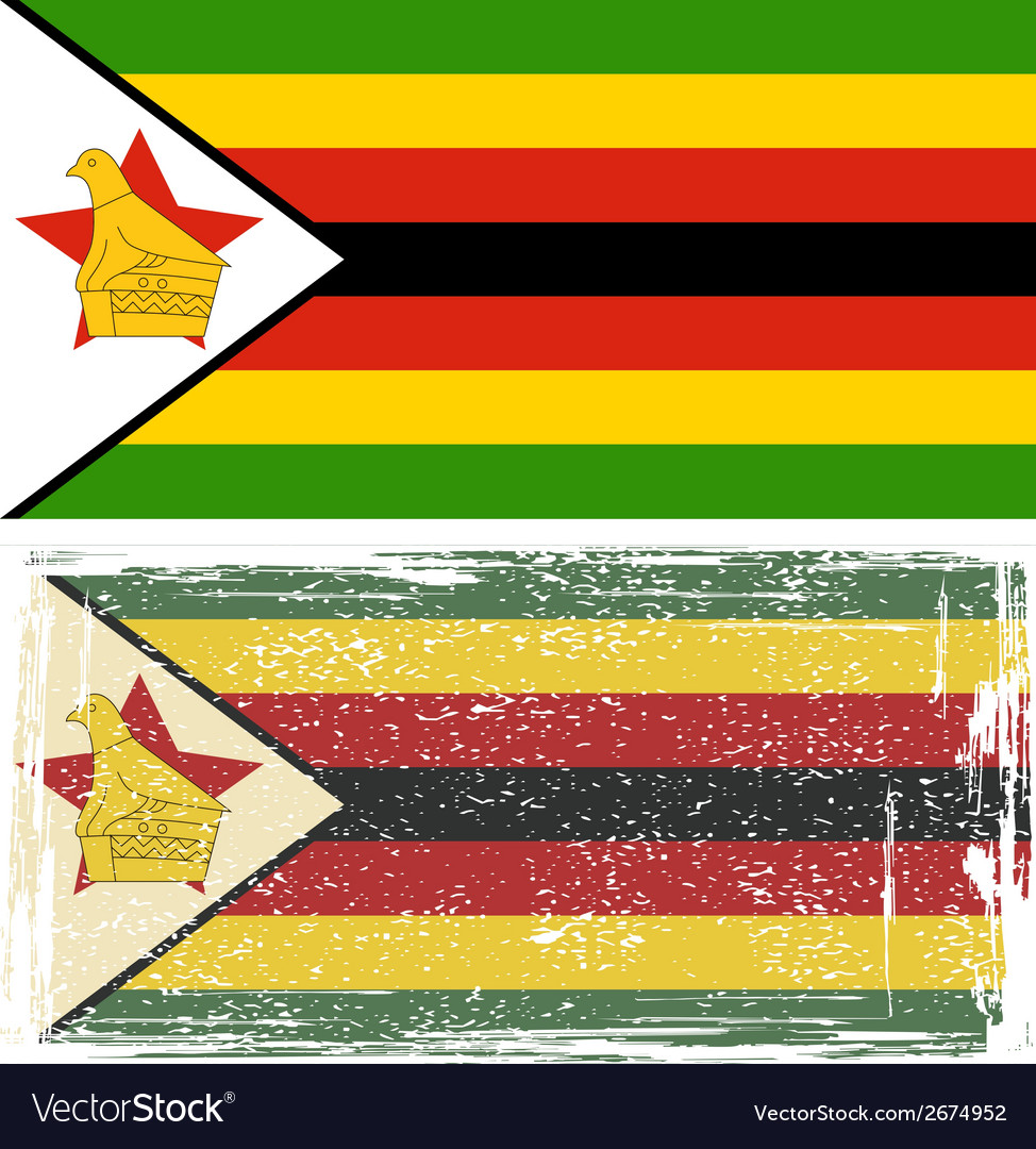 Zimbabwe grunge flag vector | Price: 1 Credit (USD $1)