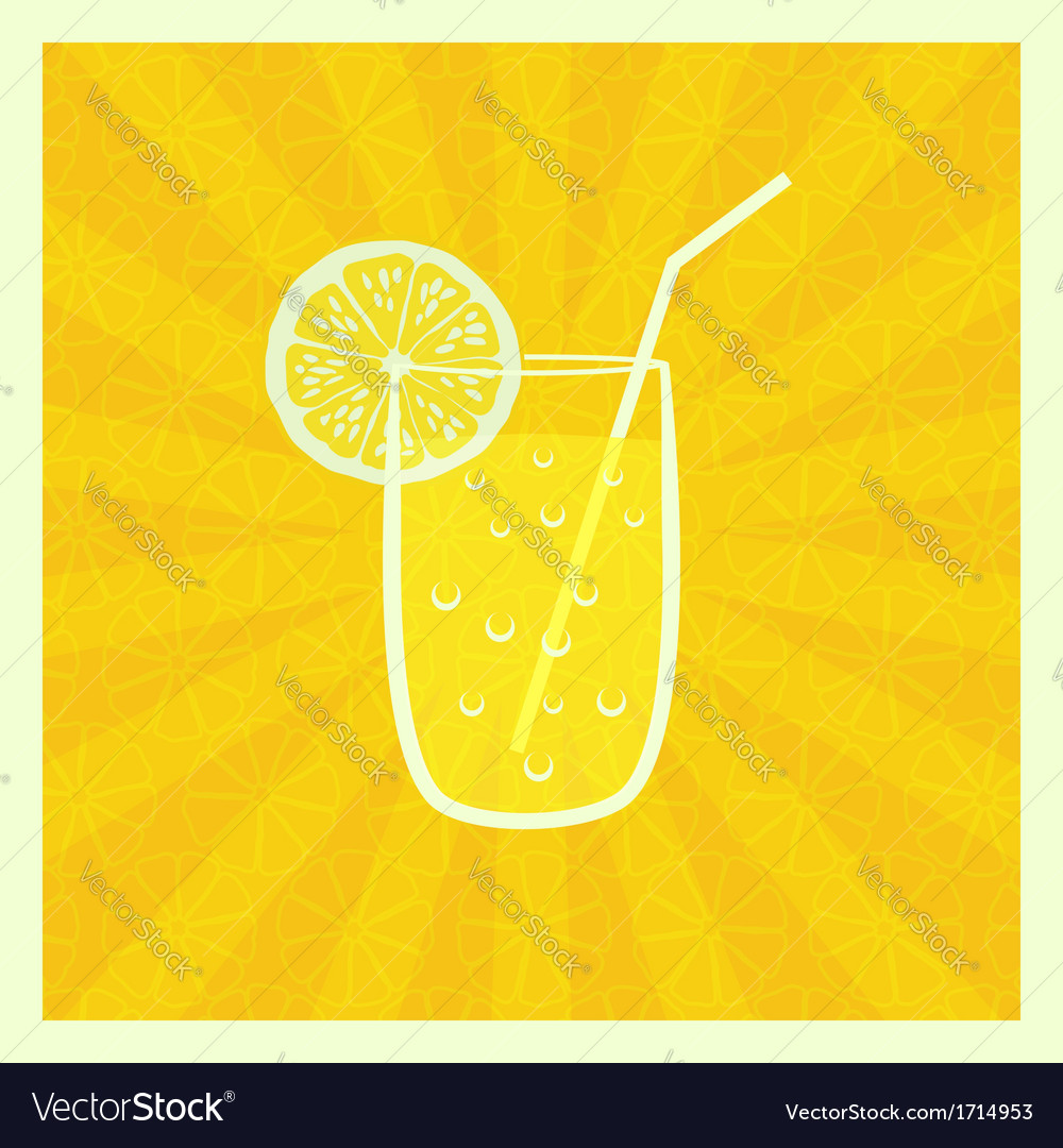 Background with juice in glass vector | Price: 1 Credit (USD $1)