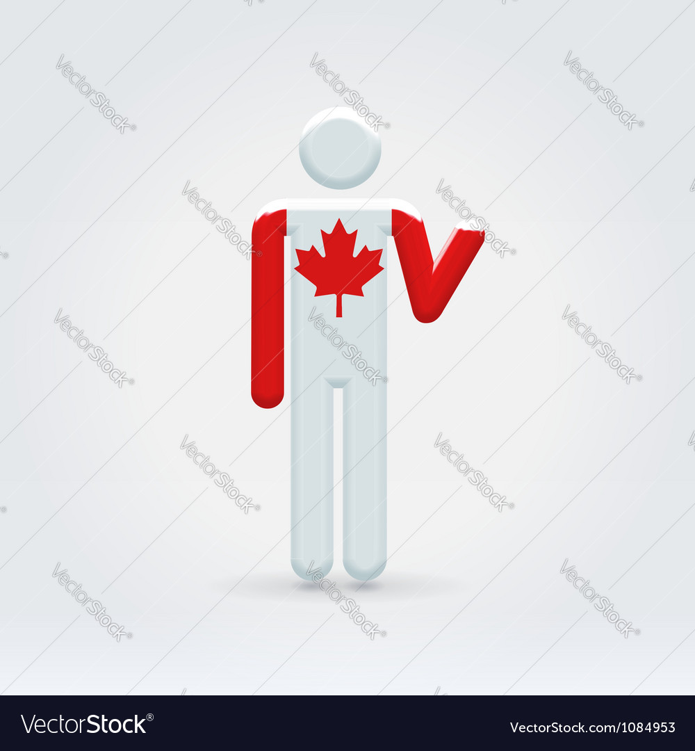 Canadian symbolic citizen icon vector | Price:  Credit (USD $)