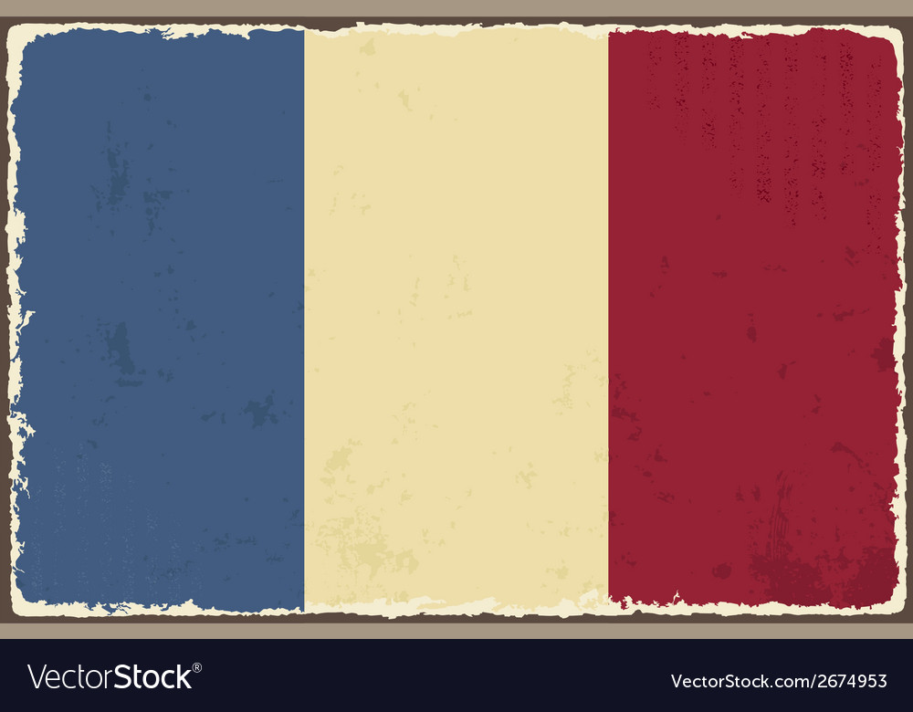 French grunge flag vector | Price: 1 Credit (USD $1)