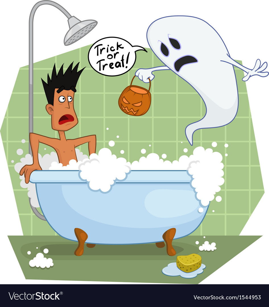 Ghost in the bathroom vector | Price: 3 Credit (USD $3)
