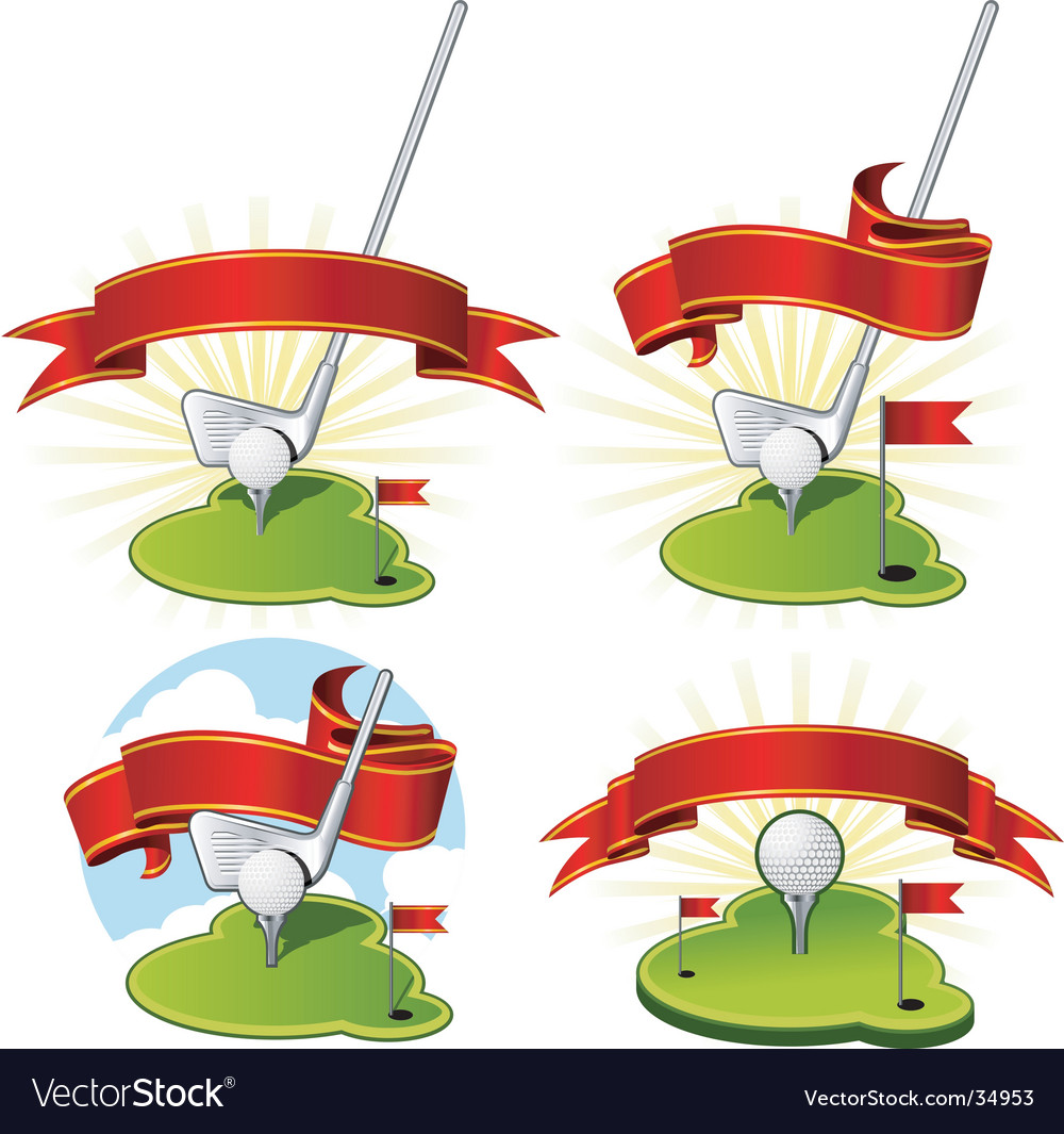 Golf emblems vector | Price: 1 Credit (USD $1)