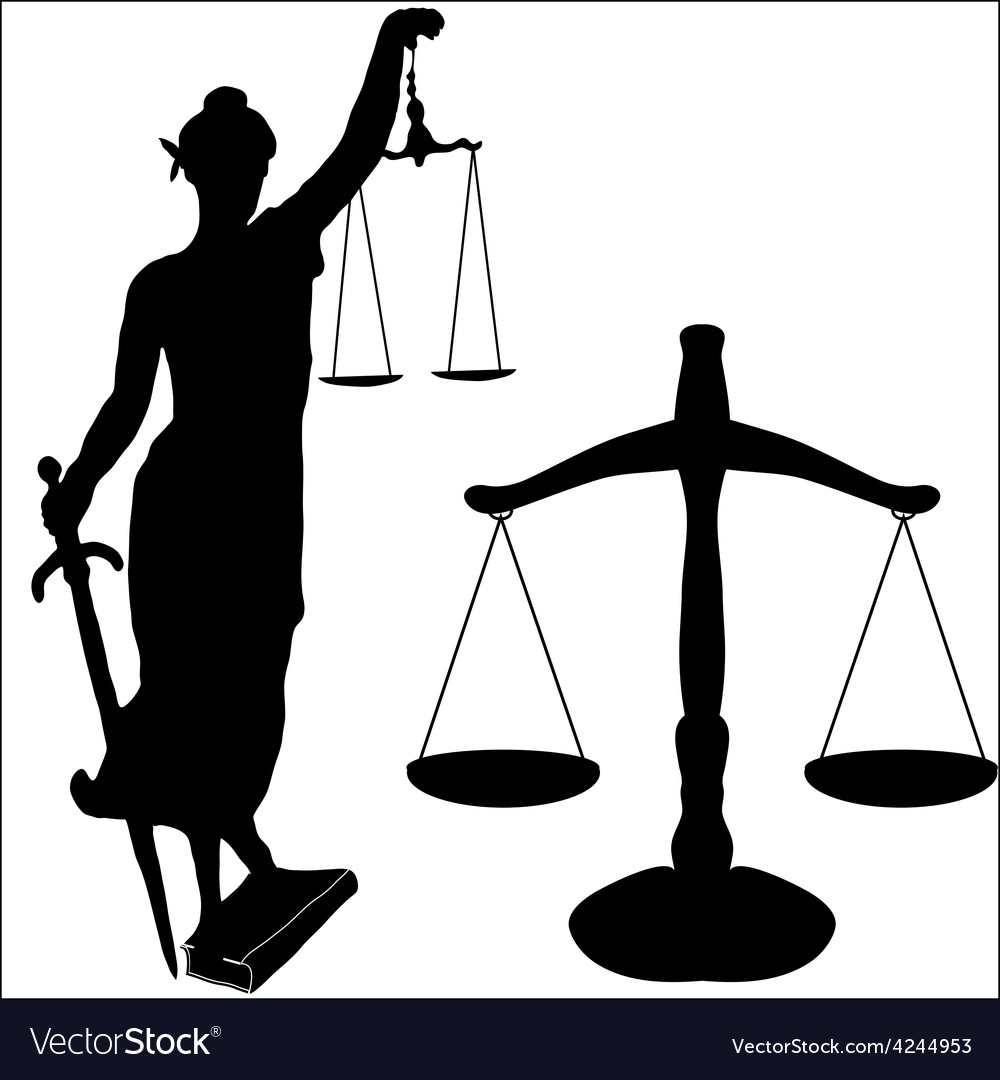 Justice statue and libra vector | Price: 1 Credit (USD $1)