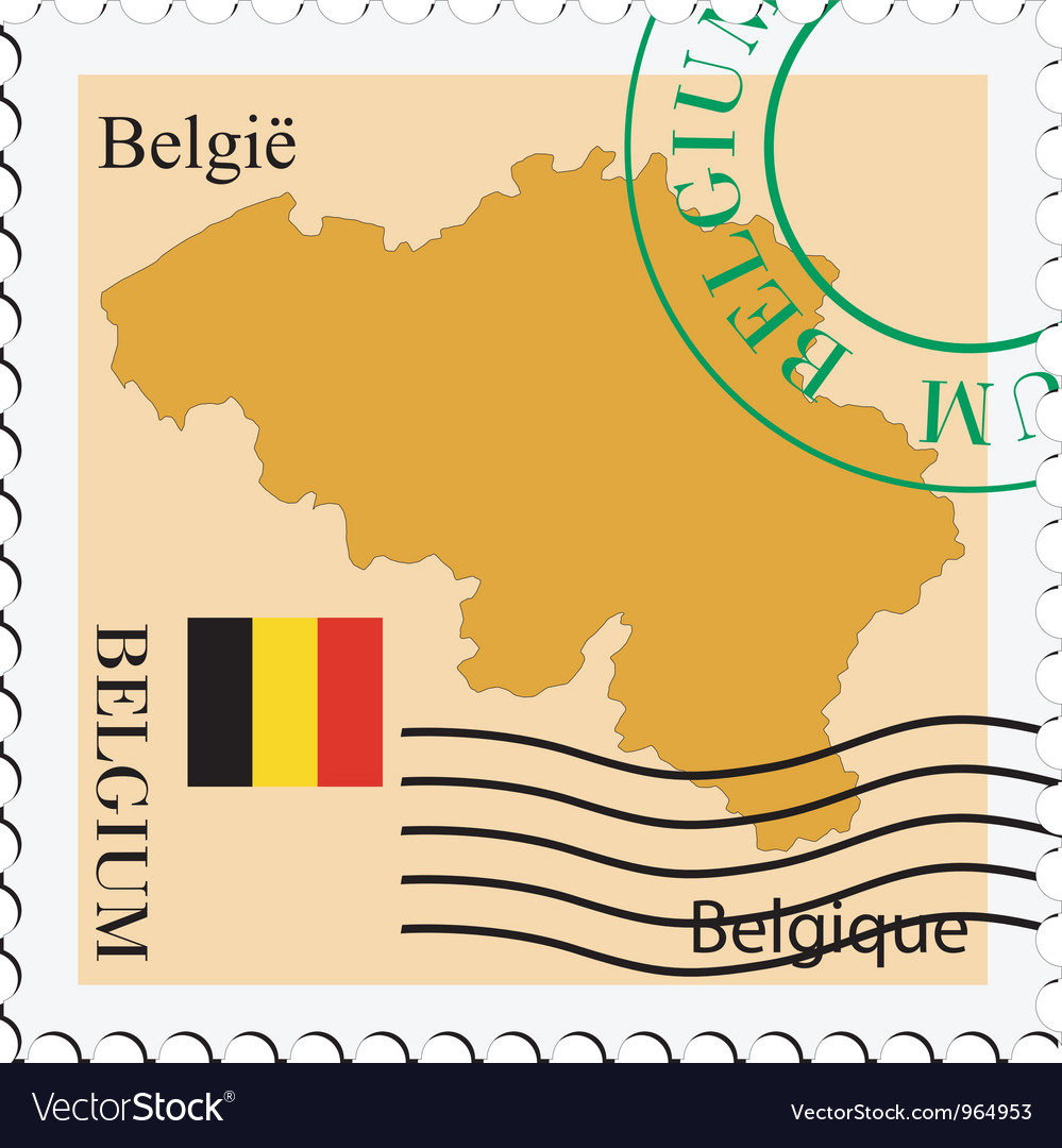 Mail to-from belgium vector | Price: 1 Credit (USD $1)