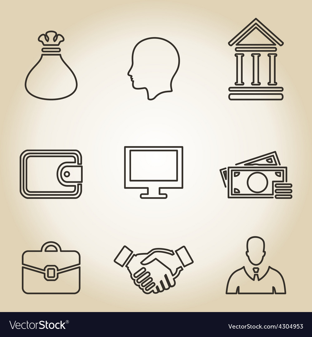 Outline business icon vector | Price: 1 Credit (USD $1)