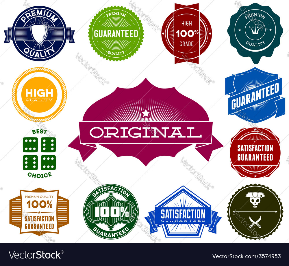 Set of colorful hipsters vintage labels vector | Price: 1 Credit (USD $1)
